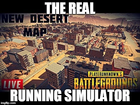 all you do... | THE REAL RUNNING SIMULATOR | image tagged in pubg,simulator,running,desert | made w/ Imgflip meme maker