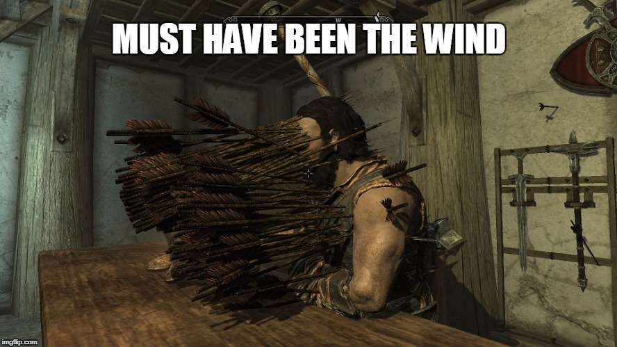 Must have been the wind | MUST HAVE BEEN THE WIND | image tagged in skyrim,skyrim meme,wind,stealth,rogue | made w/ Imgflip meme maker