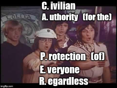 Kids from C.A.P.E.R.-they'll take your case everytime | C. ivilian R. egardless A. uthority   (for the) P. rotection   (of) E. veryone | image tagged in tv show | made w/ Imgflip meme maker