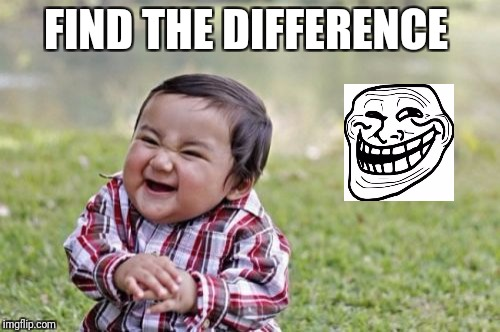 Evil Toddler Meme | FIND THE DIFFERENCE | image tagged in memes,evil toddler | made w/ Imgflip meme maker