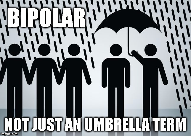 Umbrella Term | BIPOLAR NOT JUST AN UMBRELLA TERM | image tagged in umbrella term | made w/ Imgflip meme maker