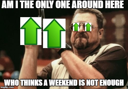 "If you wanna see this through, we oughta have it for a month! Down with Downvotes week""end"" Dec. 8-10, a campaign by fun memers  