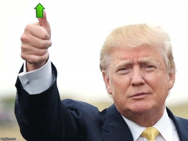 image tagged in trump thumbs up | made w/ Imgflip meme maker