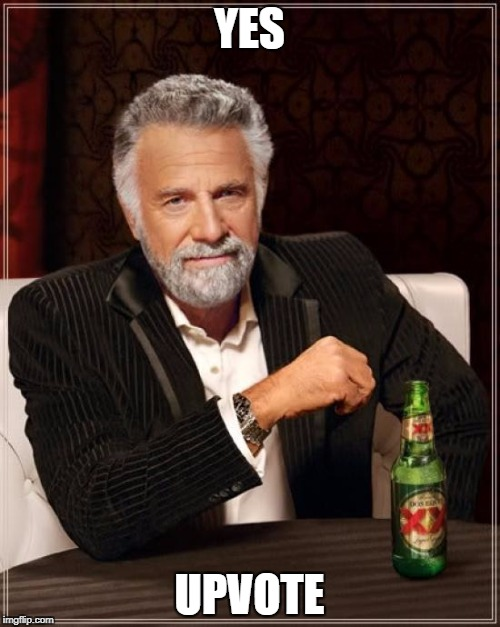 The Most Interesting Man In The World Meme | YES UPVOTE | image tagged in memes,the most interesting man in the world | made w/ Imgflip meme maker