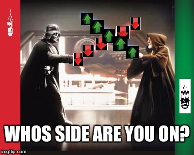 Down With Downvotes Weekend, Down Vader VS Obi Up Knobi | WHOS SIDE ARE YOU ON? | image tagged in down with downvotes weekend,downvote,upvote,star wars,the last jedi | made w/ Imgflip meme maker