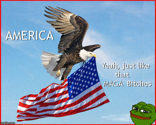 PEPE Loves America | image tagged in pepe the frog,pepe trump,maga,politics lol,donald trump approves,god bless america | made w/ Imgflip meme maker