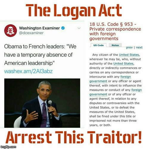 Deep State Series | image tagged in barack obama,logan act,traitor | made w/ Imgflip meme maker