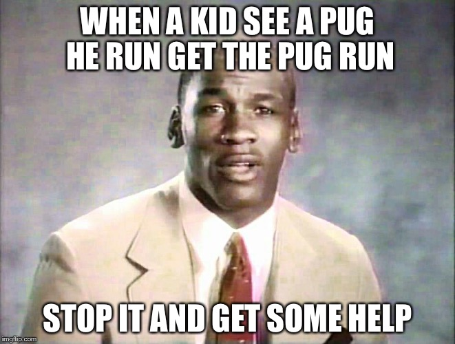 Stop it, get some help | WHEN A KID SEE A PUG HE RUN GET THE PUG RUN STOP IT AND GET SOME HELP | image tagged in stop it,get some help | made w/ Imgflip meme maker