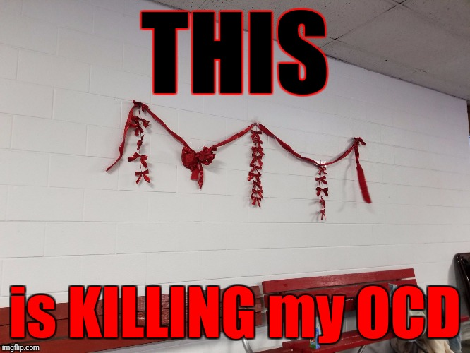 What MONSTER did this?! | THIS is KILLING my OCD | image tagged in messed up christmas decorations,memes,ocd | made w/ Imgflip meme maker