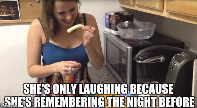 Oh god, i hope he's okay | SHE'S ONLY LAUGHING BECAUSE SHE'S REMEMBERING THE NIGHT BEFORE | image tagged in sagging cheese stick,cheese,kitchen | made w/ Imgflip meme maker