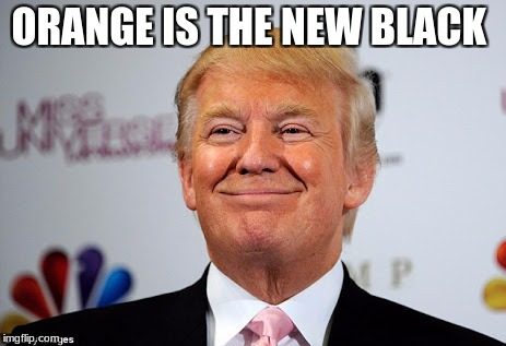 Donald trump approves | ORANGE IS THE NEW BLACK | image tagged in donald trump approves | made w/ Imgflip meme maker