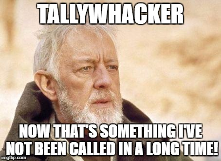 TALLYWHACKER NOW THAT'S SOMETHING I'VE NOT BEEN CALLED IN A LONG TIME! | made w/ Imgflip meme maker