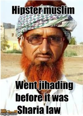 Before there was cool there was hipster | image tagged in memes,funny,muslim,nyc,terrorist,cool | made w/ Imgflip meme maker