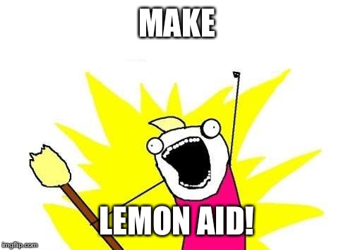 X All The Y Meme | MAKE LEMON AID! | image tagged in memes,x all the y | made w/ Imgflip meme maker