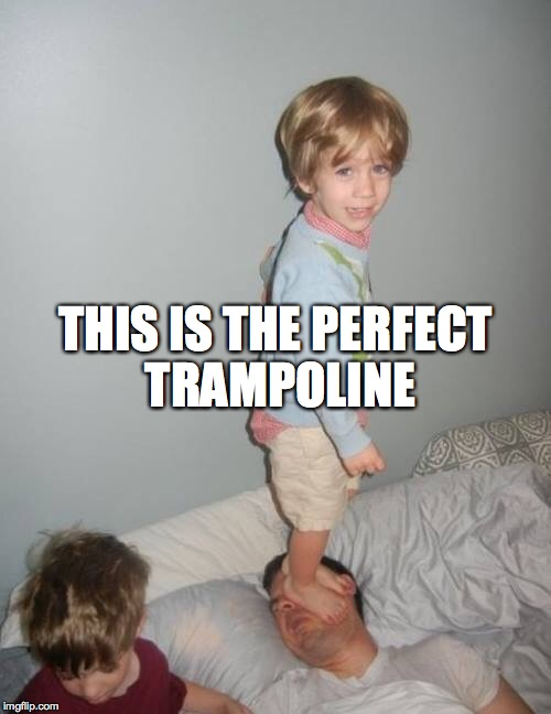 Teaching your kids why | THIS IS THE PERFECT TRAMPOLINE | image tagged in teaching your kids why | made w/ Imgflip meme maker