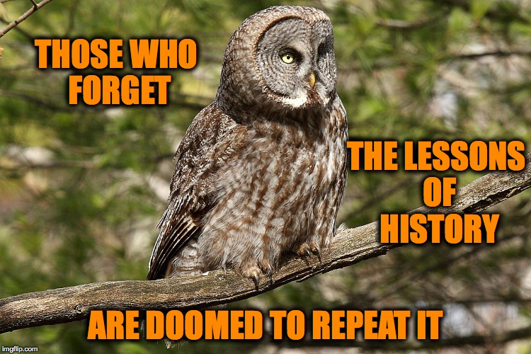 THOSE WHO FORGET ARE DOOMED TO REPEAT IT THE LESSONS OF HISTORY | made w/ Imgflip meme maker