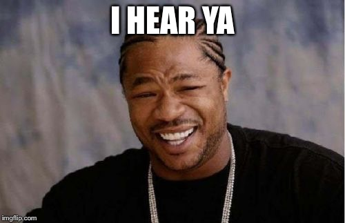 Yo Dawg Heard You Meme | I HEAR YA | image tagged in memes,yo dawg heard you | made w/ Imgflip meme maker