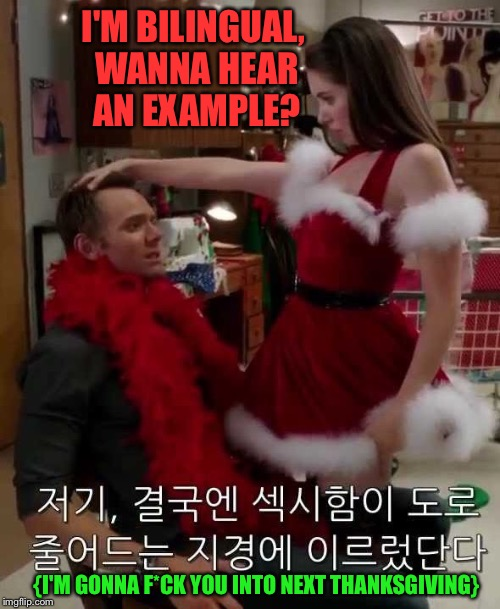 "Hope he's at least ""bi something"" 
