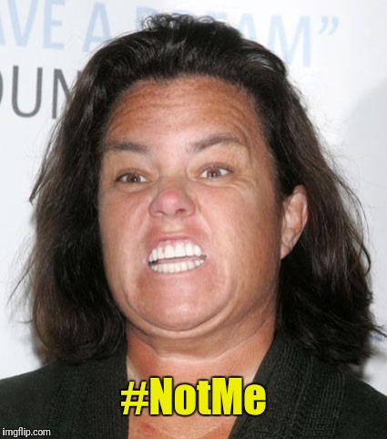 Whole notta Rosie! | #NotMe | image tagged in rosie o'donnell,notme,metoo,whole lotta rosie | made w/ Imgflip meme maker