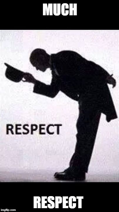 tip hat respect | MUCH RESPECT | image tagged in tip hat respect | made w/ Imgflip meme maker