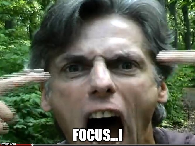 Focus | FOCUS...! | image tagged in focus | made w/ Imgflip meme maker