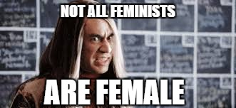 NOT ALL FEMINISTS ARE FEMALE | made w/ Imgflip meme maker