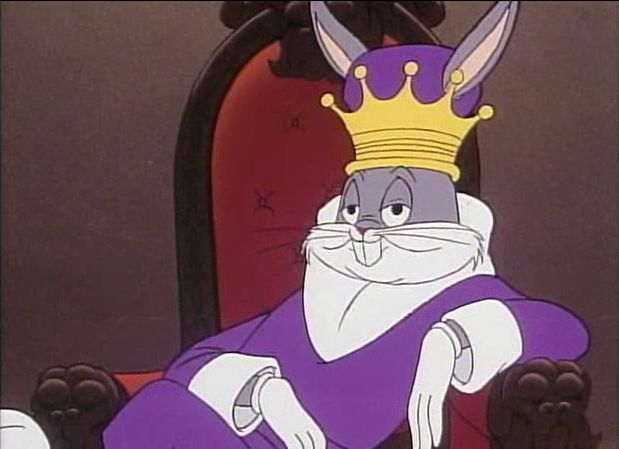 High Quality Bugs Bunny King Blank Meme Template