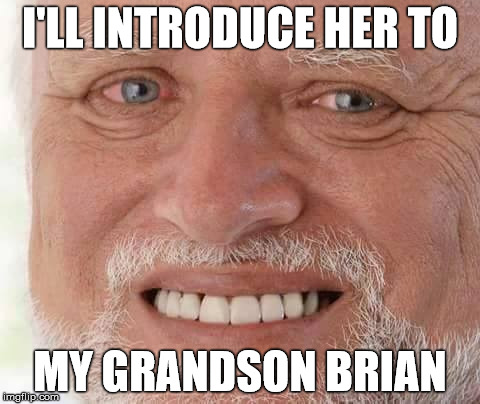 I'LL INTRODUCE HER TO MY GRANDSON BRIAN | made w/ Imgflip meme maker