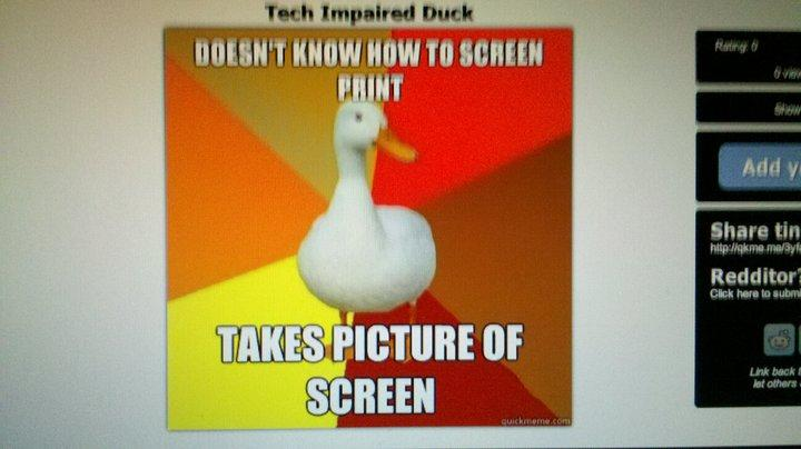 Tech Impaired Duck | Tech Impaired Duck Meme | image tagged in memes,tech impaired duck