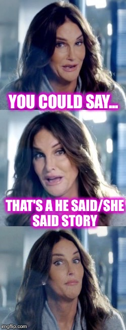 YOU COULD SAY... THAT'S A HE SAID/SHE SAID STORY | made w/ Imgflip meme maker