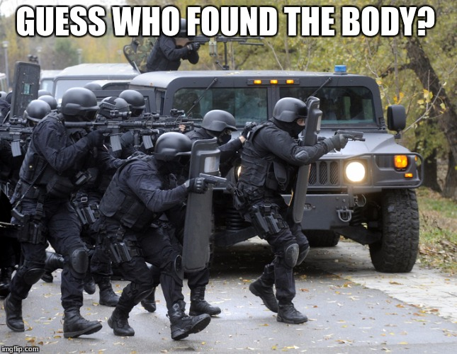 GUESS WHO FOUND THE BODY? | made w/ Imgflip meme maker