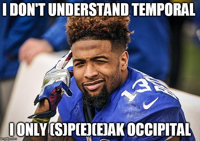 I DON'T UNDERSTAND TEMPORAL I ONLY (S)P(E)(E)AK OCCIPITAL | image tagged in odell | made w/ Imgflip meme maker