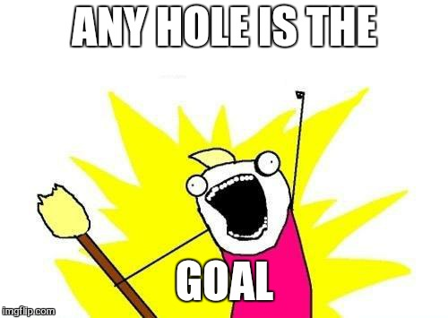 X All The Y Meme | ANY HOLE IS THE GOAL | image tagged in memes,x all the y | made w/ Imgflip meme maker