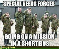 special needs forces short bus down syndtom | image tagged in down syndrome | made w/ Imgflip meme maker