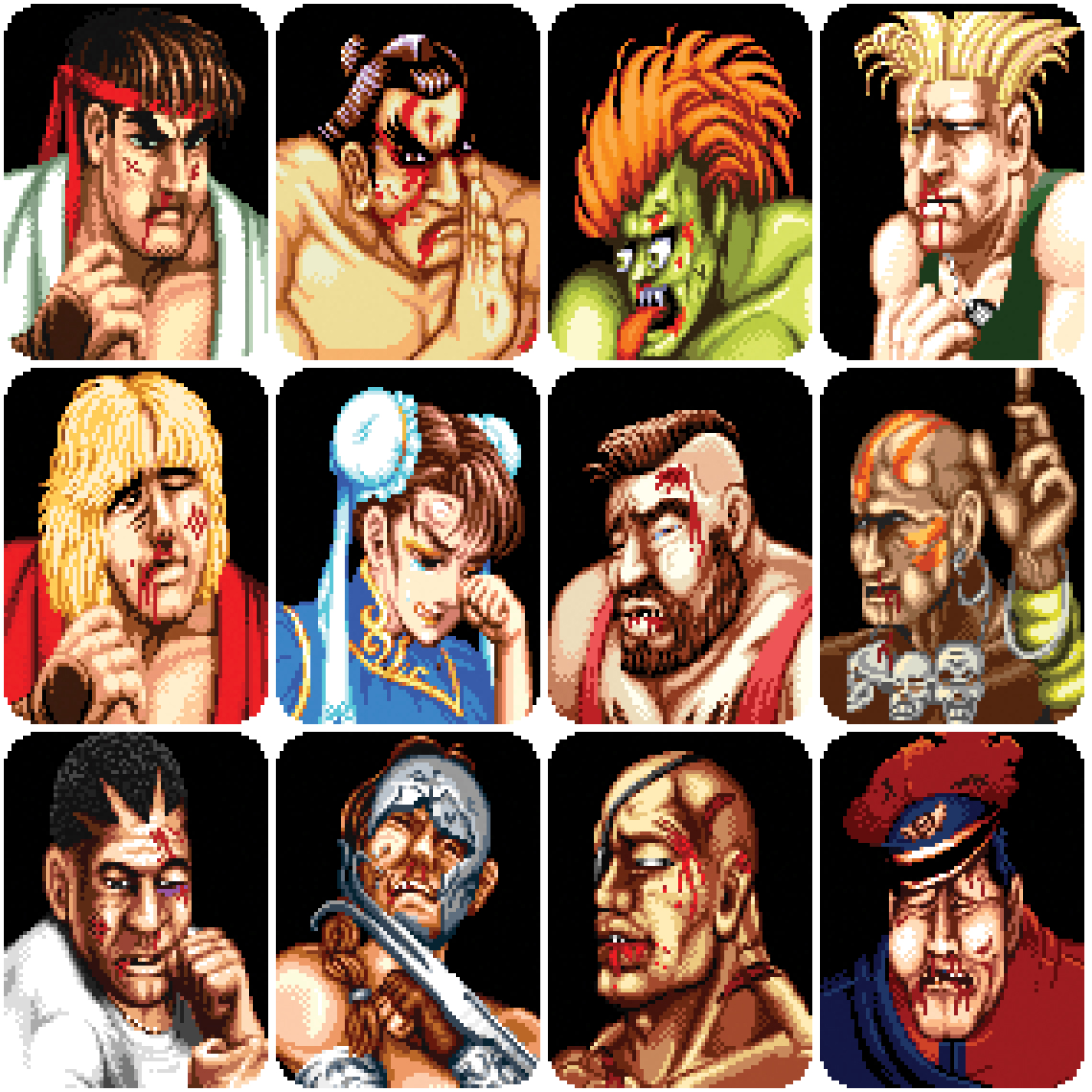 Characters From Street Fighter 2 Blank Template Imgflip