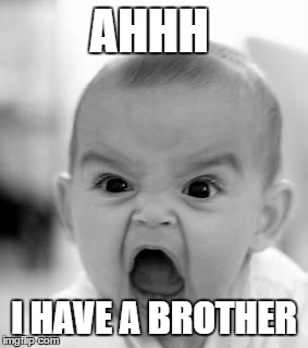 Angry Baby Meme | AHHH I HAVE A BROTHER | image tagged in memes,angry baby | made w/ Imgflip meme maker
