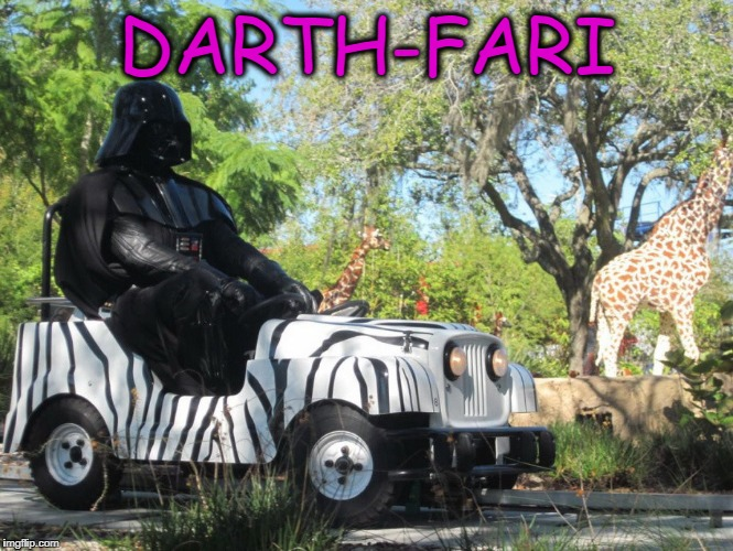 Darth-Safari | DARTH-FARI | image tagged in darthfari,darth vader,safari | made w/ Imgflip meme maker