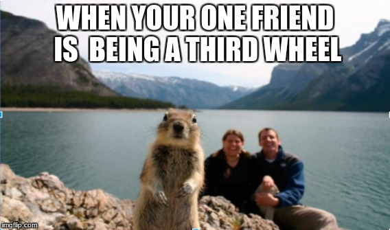 SOME DUDES! | WHEN YOUR ONE FRIEND IS BEING A THIRD WHEEL | image tagged in 'eorigh,ogres | made w/ Imgflip meme maker