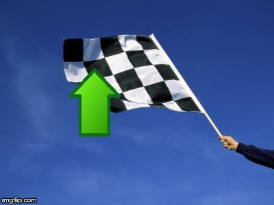 checkered flag waved | image tagged in checkered flag waved | made w/ Imgflip meme maker