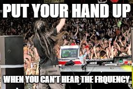 PUT YOUR HAND UP WHEN YOU CAN'T HEAR THE FRQUENCY | made w/ Imgflip meme maker