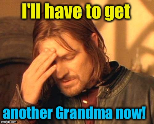 I'll have to get another Grandma now! | made w/ Imgflip meme maker