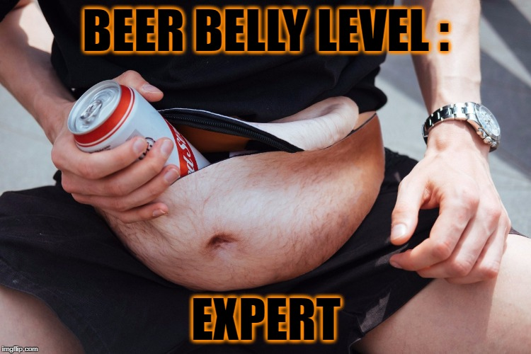 No words . . . | BEER BELLY LEVEL : EXPERT | image tagged in beer belly,dadbag | made w/ Imgflip meme maker