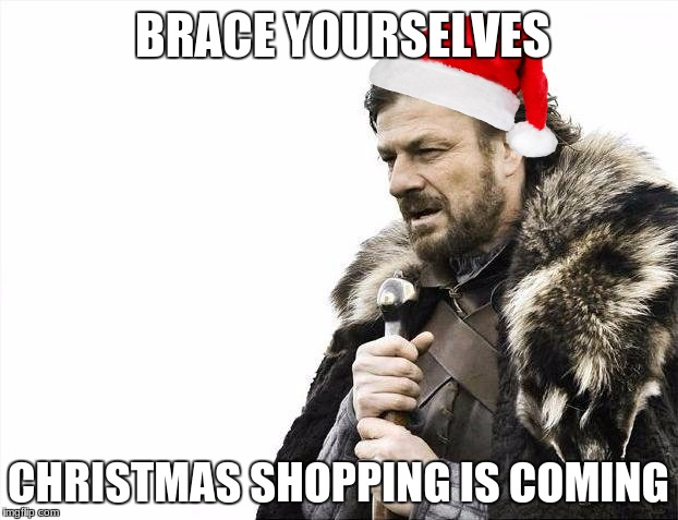 Brace Yourselves X is Coming Meme | BRACE YOURSELVES CHRISTMAS SHOPPING IS COMING | image tagged in memes,brace yourselves x is coming | made w/ Imgflip meme maker