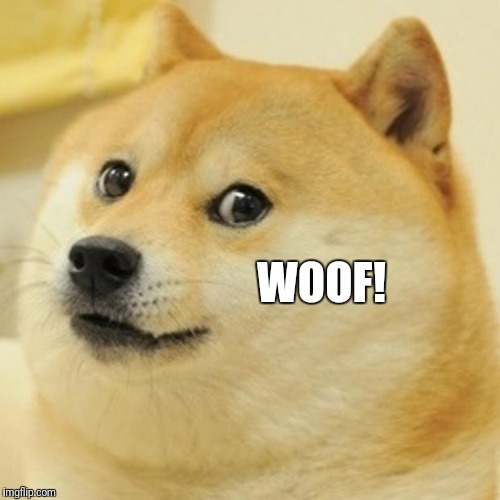 Doge Meme | WOOF! | image tagged in memes,doge | made w/ Imgflip meme maker