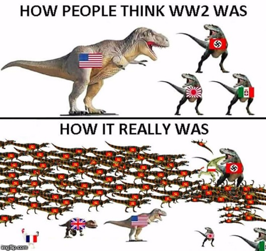 Image Tagged In Memes Ww2 Dinosaur Dinosaurs Soviet Russia Soviet