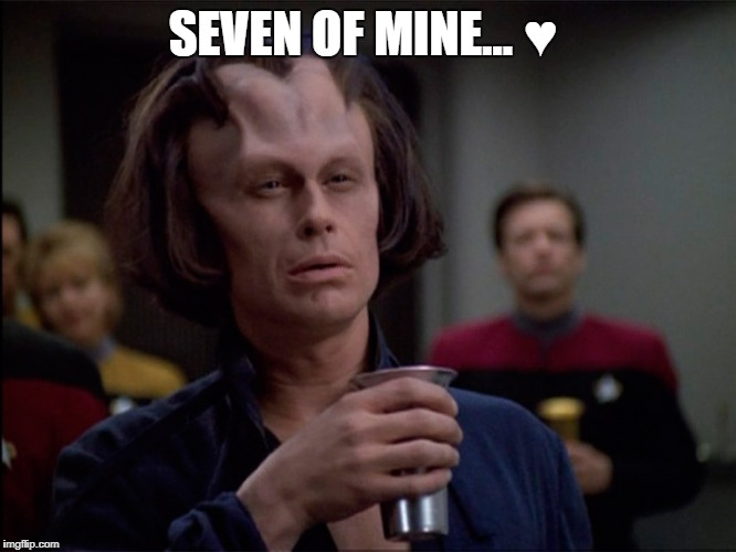 Seven of Mine |  SEVEN OF MINE... ♥ | image tagged in star trek voyager,seven of nine,tomin | made w/ Imgflip meme maker