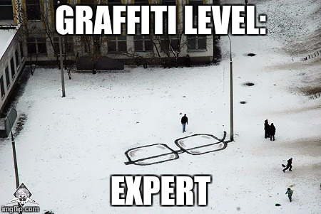 Glasses Graffiti | GRAFFITI LEVEL: EXPERT | image tagged in graffiti,glasses,expert,memes | made w/ Imgflip meme maker