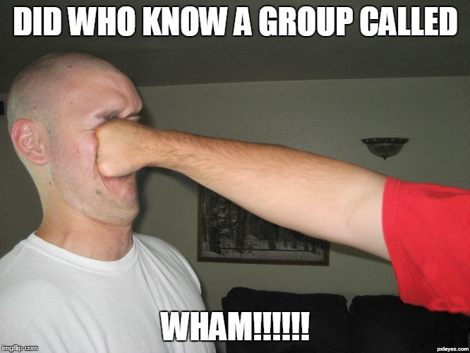 Face punch | DID WHO KNOW A GROUP CALLED WHAM!!!!!! | image tagged in face punch | made w/ Imgflip meme maker