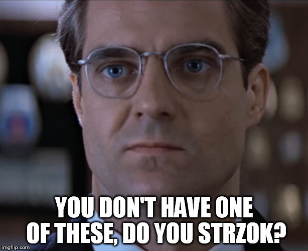 YOU DON'T HAVE ONE OF THESE, DO YOU STRZOK? | image tagged in ritter goojf | made w/ Imgflip meme maker