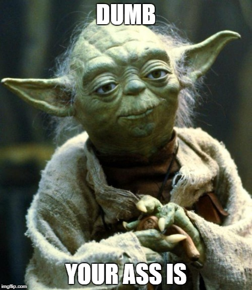 Star Wars Yoda Meme | DUMB YOUR ASS IS | image tagged in memes,star wars yoda | made w/ Imgflip meme maker